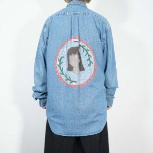 【RalphLauren】girl paint remake denim shirt