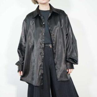 glossy black pinstripe luxury shirt