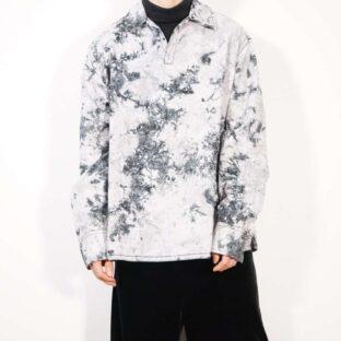 【DKNY】tie-dye paisley pattern pullover shirt