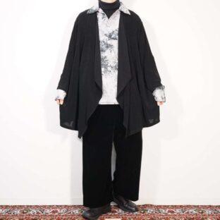 super drape silhouette mode black haori