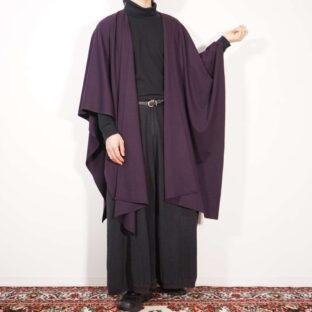 drape silhouette deep purple haori