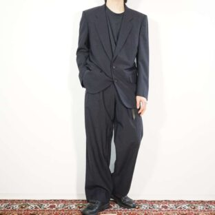 【COMME des GARCONS HOMME】black navy loose silhouette set up