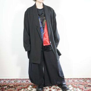 oversized mode black easy jacket