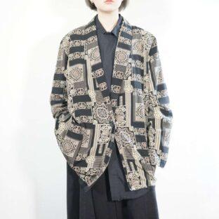 black base elegant motif easy jacket