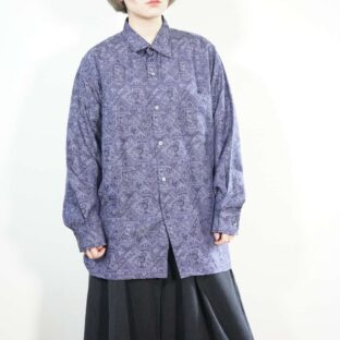 purple base arabesque woven shirt