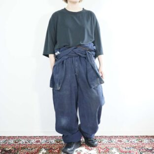 【Carhartt】oversized fade navy dack wide all-in-one