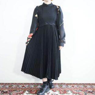 vintage Neiman Marcus super drape fabric mode black no-sleeve one-piece