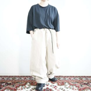 DKNY ecru white color wide painter pants