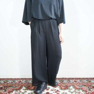 see-through layer design drape wide pants