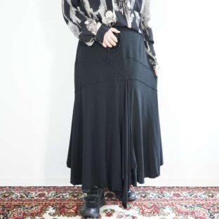 drape fabric deformed switching easy skirt