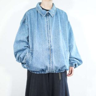 【TOMMY HILFIGER】old oversized denim drizzler jacket