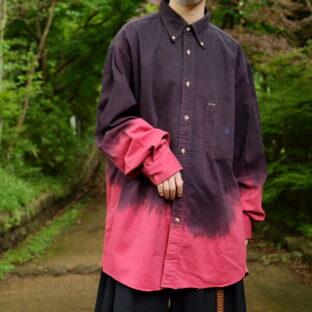【Atozome】oversized NAUTICA gradation OVERDYE shirt