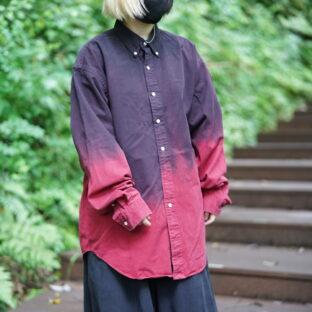 【Atozome】oversized RalphLauren gradation OVERDYE shirt