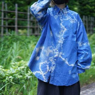【Bleach】oversized RalphLauren blue × green pony shirt