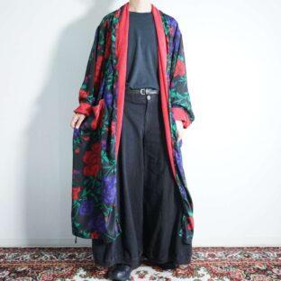 flower full graphic pile lining haori gown