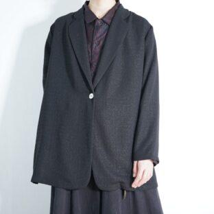 oversized mode black wrinkle easy jacket