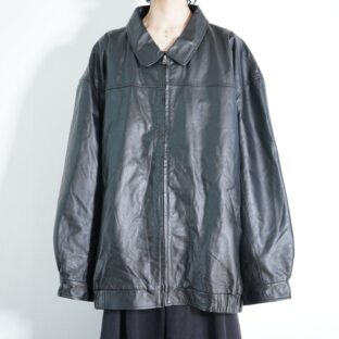 monster oversized leather drizzler jacket