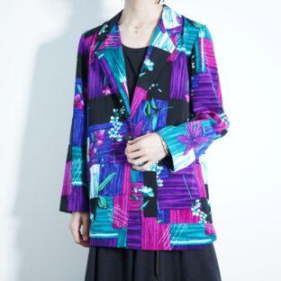 beautiful blue purple pattern easy jacket