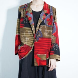 chaos red pattern easy jacket