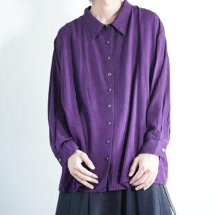purple body black overdye drape shirt