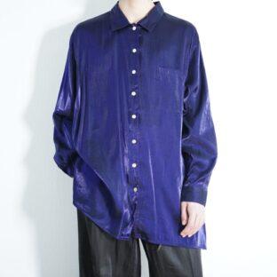 beautiful glossy blue terotero shirt