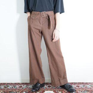 multi pocket design brown flare pants
