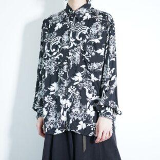 monotone elegant pattern drape shirt