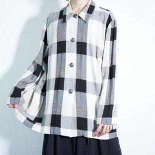 monotone base good over check terotero shirt jacket