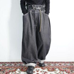 【MARITHE FRANCOIS GIRBAUD】super wide baggy black denim pants
