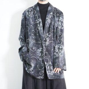 oversized monotone elegant graphic easy jacket