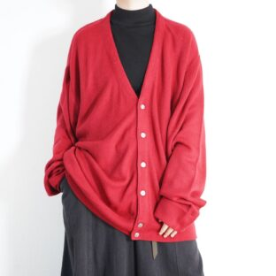 oversized beautiful red acryl knit cardigan